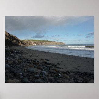 Poster Scène de plage de Whitby