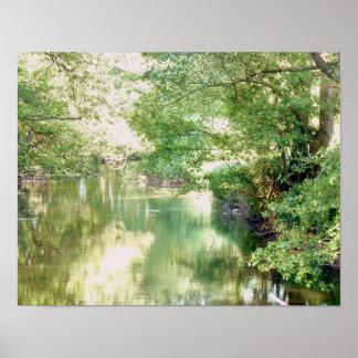 Poster Scène de rivière de la Norfolk