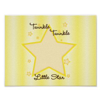 Poster Scintillement de scintillement peu d'étoile