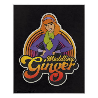 "Poster Scooby-Doo | ""gingembre de ingérence"" Daphne"