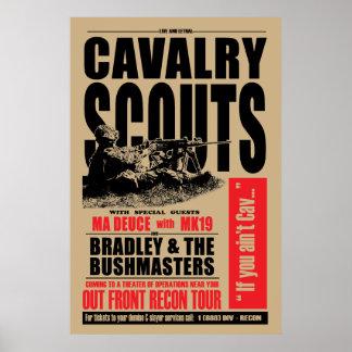 Poster scout de 19D Cav, affiche de style de concert