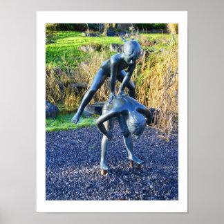 Poster Sculpture du jeu d'enfants