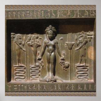 Poster Sculpture égyptienne en statue au musée de New