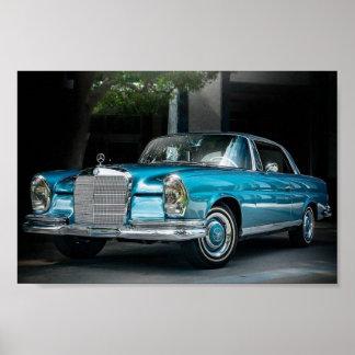 Poster Se 1966 du benz 250 de Mercedes