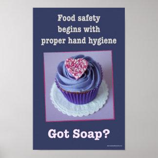 Poster Sécurité alimentaire - affiche de lavage des mains