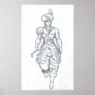 Poster Seigneur Krishna Sketch