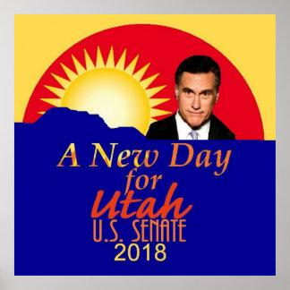 Poster Sénat 2018 de Mitt Romney