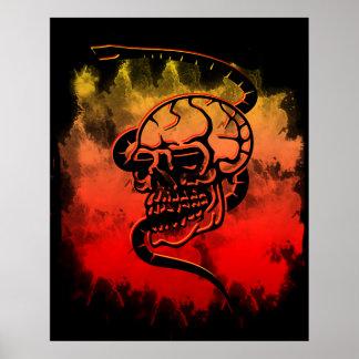 Poster serpent de crâne