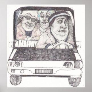 Poster service de voiture