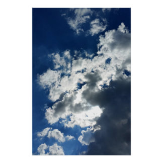 Poster Seulement nuages