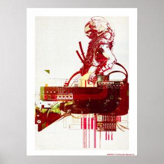 Poster SHWANN : Les samouraïs futuristes DJ