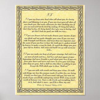 Poster SI poème de inspiration pour des jeunes hommes par