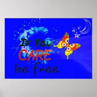 Poster Si vous vous inquiétez soyez libre