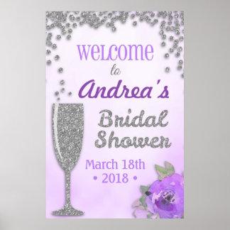 Poster Signe bienvenu de brunch et de douche nuptiale