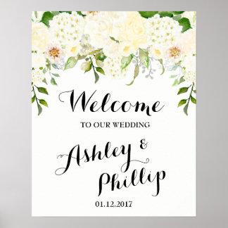 Poster Signe bienvenu de mariage