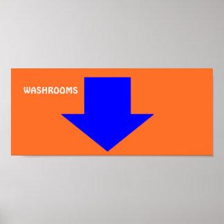 """Poster Signe d'affiche de """"salles de toilette""""."""