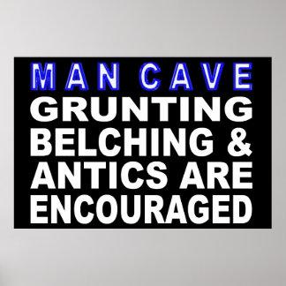 Poster Signe de caverne d'homme