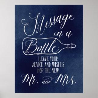 Poster Signe de livre d'invité - message dans une