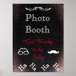 Poster Signe de mariage pour la cabine de photo, style de