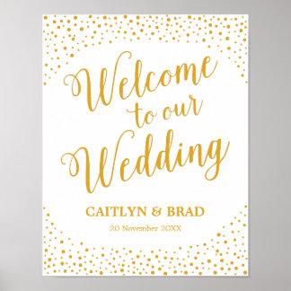Poster Signe de mariage - signe bienvenu de mariage de