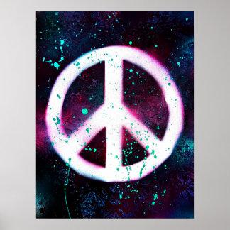 Poster Signe de paix peint par jet