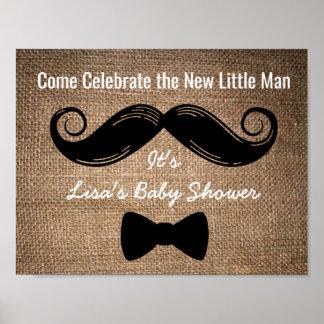 Poster Signe de partie de moustache et d'arc avec