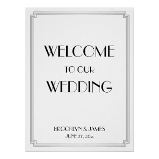 Poster Signe de réception de noces d'argent de Gatsby