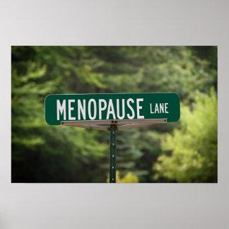 Poster Signe de ruelle de ménopause pour un bon rire