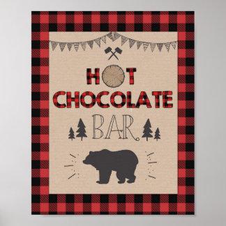Poster Signe de table de cacao de bûcheron de signe de