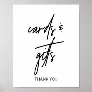 Poster Signe lunatique de cartes et de cadeaux de