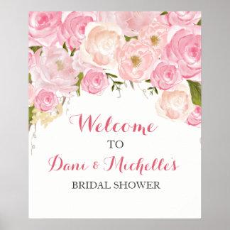 Poster SIGNE nuptiale de douche de fleur rose