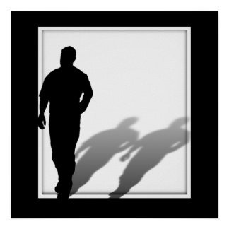 Poster Silhouette absente d'homme d'homme