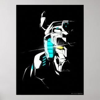 Poster Silhouette brillante d'oeil de Voltron |
