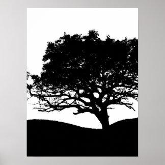 Poster Silhouette d'arbre