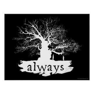 Poster Silhouette de citation du charme | de Harry Potter