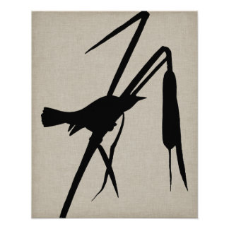 Poster Silhouette II d'Audubon