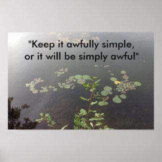 Poster Simplicité