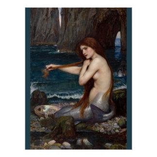 Poster Sirène CC0795 de John William Waterhouse