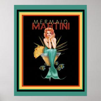 Poster Sirène Martini 16 x affiche 20