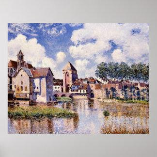 Poster Sisley - Moret-sur-Loing, le port de la Bourgogne