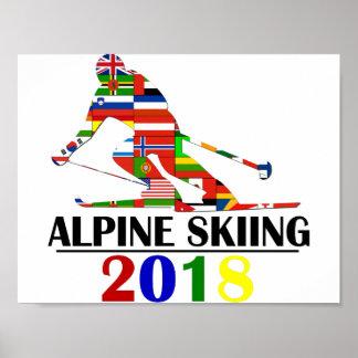 POSTER SKI 2018 ALPIN