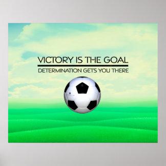Poster Slogan SUPÉRIEUR de victoire du football