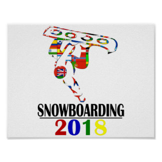 POSTER SNOWBOARDING 2018