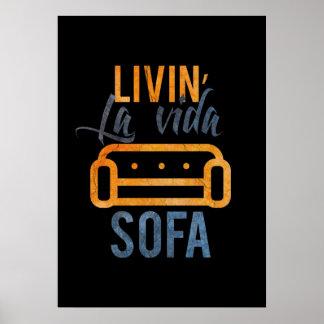 Poster Sofa de vida de La de Livin