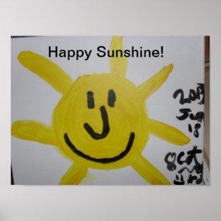 Poster Soleil heureux ! Appréciez !
