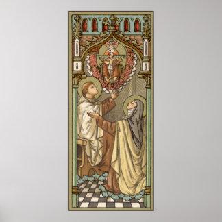 Poster Solides solubles. Teresa d'Avila et John du croisé