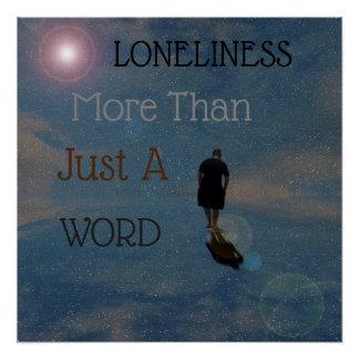 Poster Solitude plus qu'un mot,