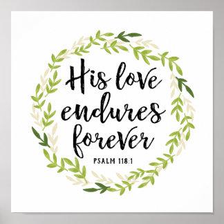 Poster Son amour supporte pour toujours la copie