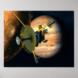 Poster Sonde de Jupiter et de Lo Galilée