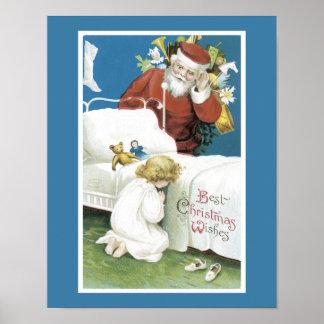 Poster Souhaits vintages de Noël